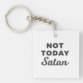 Lil Hummingbird Designs - Not Today Satan Keychain