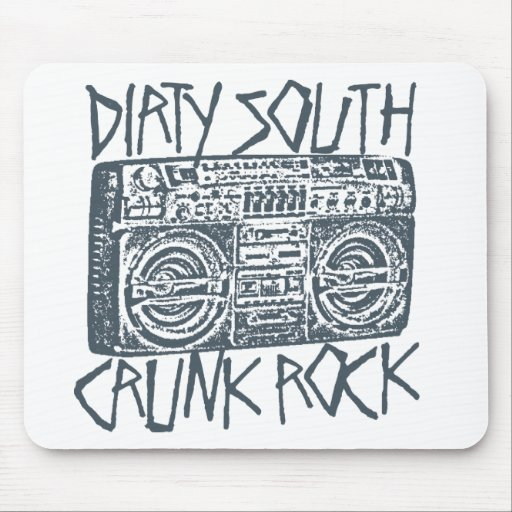 "Lil Jon ""Dirty South Boombox Gray"" Mouse Pads"