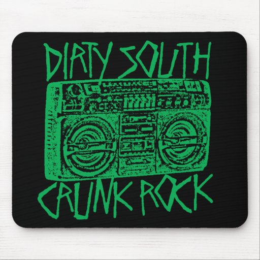 "Lil Jon ""Dirty South Boombox Green"" Mouse Mat"