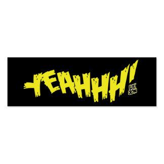 """Lil Jon """"Yeeeah!"""" Yellow Mini Business Card"""