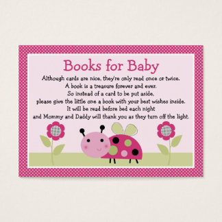 """""""Lil Ladybug with dots"""" Book Request Inserts"""