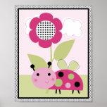 Lil Ladybug with Polka Dots #2 Nursery Art Poster