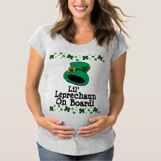 Lil' Leprechaun on Board Maternity Maternity T-Shirt