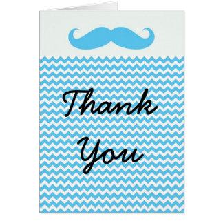Lil LIttle Man Mustache Thank you card