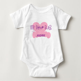 Lil love bug: customize w/name baby bodysuit