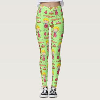 Lil Miss Baker ( Pale Green ) Leggings