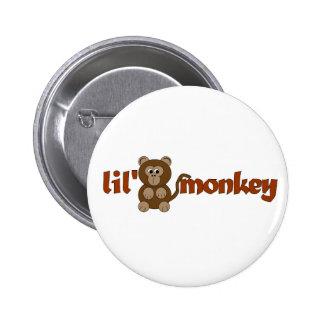 Lil monkey pinback buttons