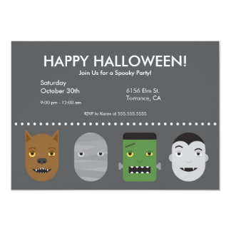 Lil Monsters Halloween Party Invitation