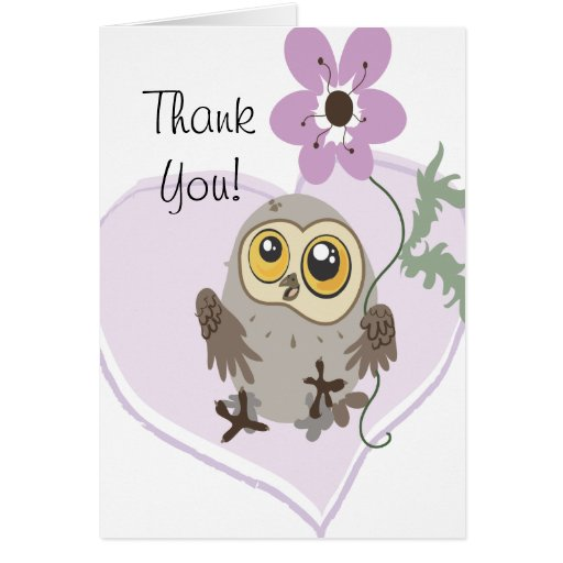 Lil Owl Thank You  note cards