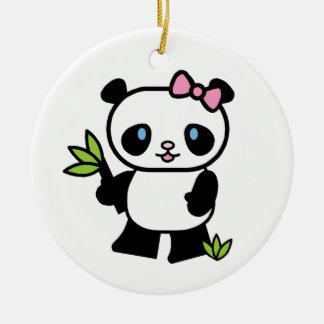 Lil Panda Girl Ceramic Ornament
