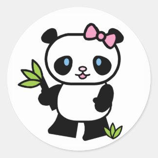 Lil Panda Girl Classic Round Sticker