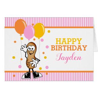 Lil Peanut Personalized Birthday Greeting Card