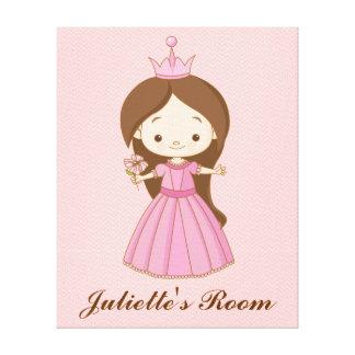 Li'l Princess Personalized Girls Room Canvas