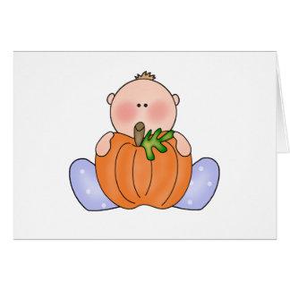 Lil Pumpkin Baby Boy Note Card