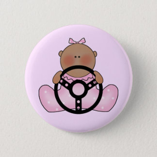 Lil Race Baby Girl - Ethnic 2 Inch Round Button