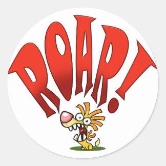 Lil ROAR! Round Sticker