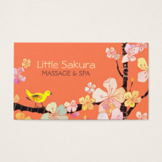 Lil Sakura Bird Massage + Spa Appointment Cards