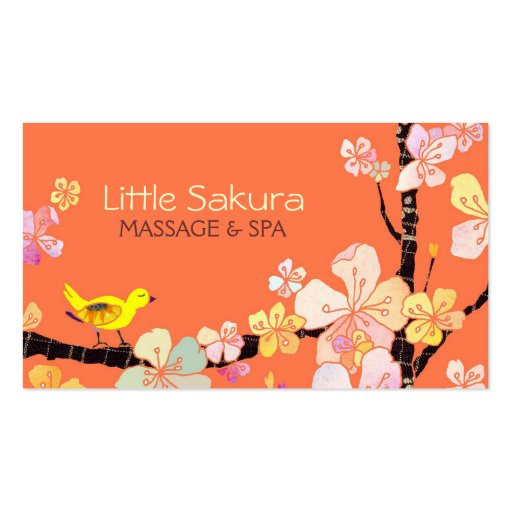 Lil Sakura Bird Massage + Spa Appointment Cards Business Card