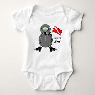 Lil Scuba Dude Future Diver Baby Bodysuit