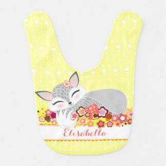 Lil Silver Foxie Cub - Custom Baby Fox Bib