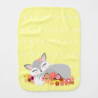 Lil Silver Foxie Cub - Cute Baby Fox Burp Cloth