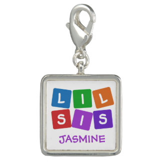 Lil Sis custom name charm / bracelet