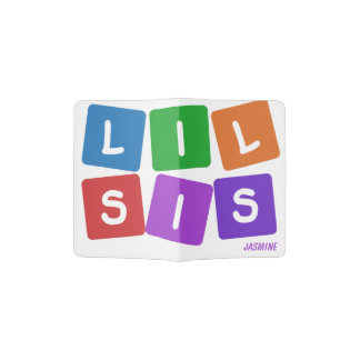 Lil Sis custom name passport cover