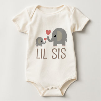 Lil Sis Elephant Gift Idea Baby Creeper