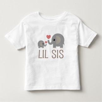 Lil Sis Elephant Gift Idea Tee Shirts