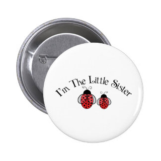 Lil Sis Ladybug 2 Inch Round Button