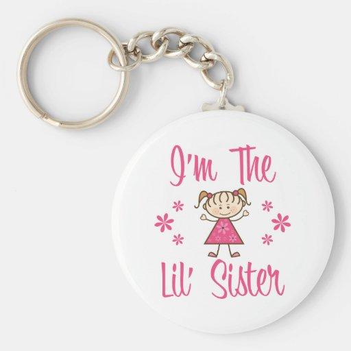 Lil Sis Pink Girls Key Chain