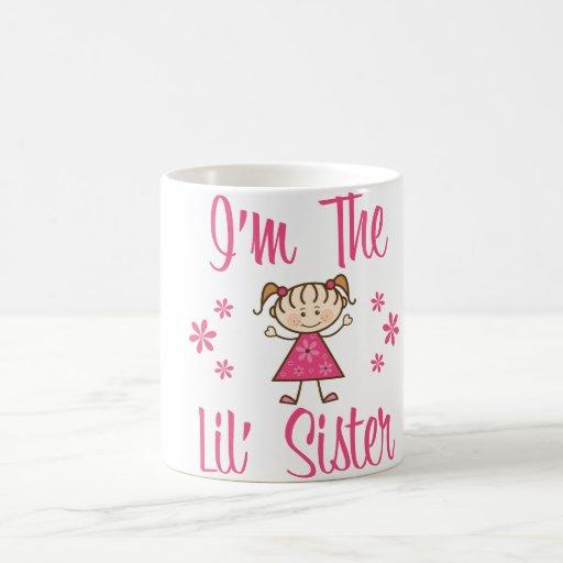 Lil Sis Pink Girls Coffee Mugs