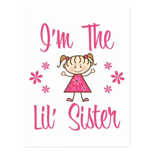 Lil Sis Pink Girls Post Cards