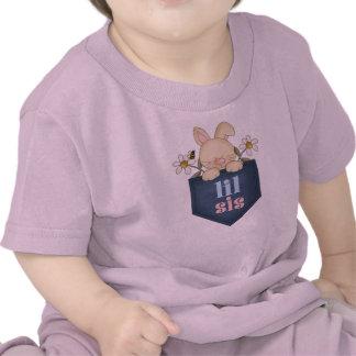Lil Sis Pocket Bunny Infant Tee Shirt