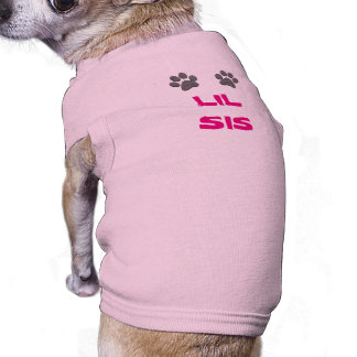 LIL SIS Shirts for Dog with Doggie Paws