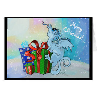 lil Snowflake Dragon~Merry Christmas Holiday Cards