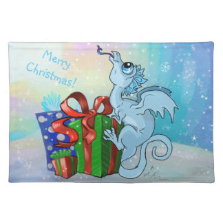lil snowflake dragon placemat