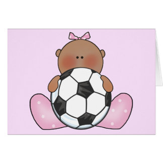 Lil Soccer Baby Girl - Ethnic Note Card
