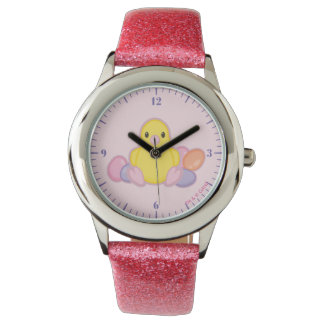 Lil Spring Chick Pattern Wrist Watch