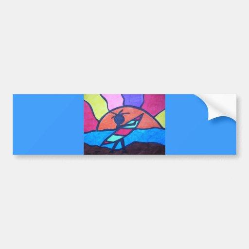 Lil' Surfer Dude - Setting Sun Bumper Stickers