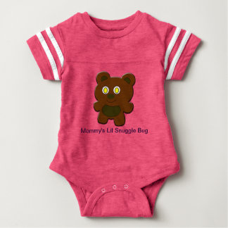 Lil Teddy Bear on cute Baby Football Bodysuit