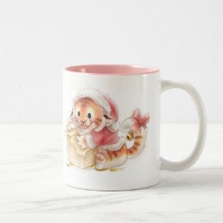 Li'l tiger Christmas mug