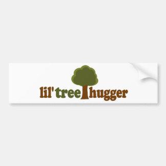 Lil tree hugger car bumper sticker