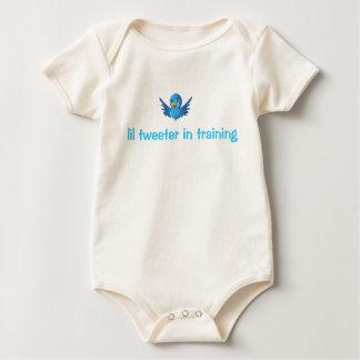 lil tweeter in training baby bodysuit