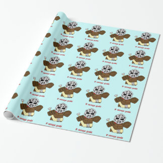 Lil' Vintage Hockey Goalie Gift Wrapping Paper