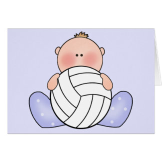Lil Volleyball Baby Boy Greeting Card