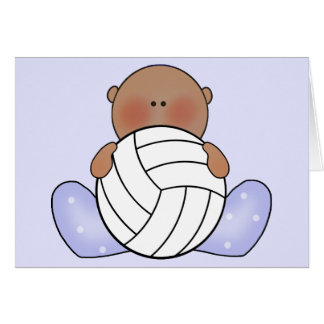 Lil Volleyball Baby Boy - Ethnic Greeting Card