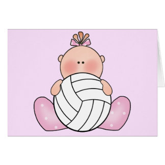 Lil Volleyball Girl Cards