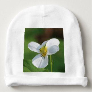 Lil White Flower Baby Beanie