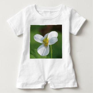 Lil White Flower Baby Romper